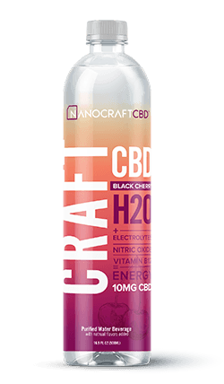 Nanocraft Black Cherry CBD Energy Water