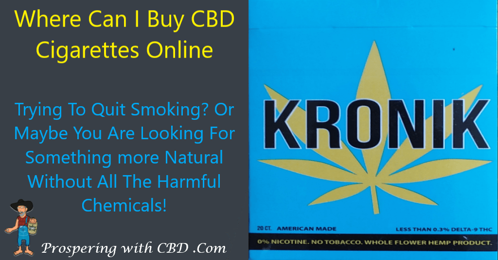 Where Can I Buy CBD Cigarettes Online - Featured Image